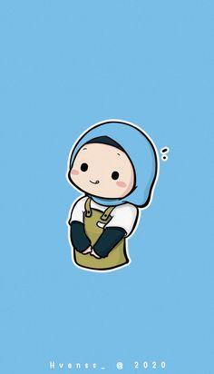 Cartoon Girl Images, Cartoon Pics, Cute Cartoon Wallpapers, Girl Cartoon, Cartoon Art, Cute Little Drawings, Cute Cartoon Drawings, Islamic Cartoon, Anime Muslim