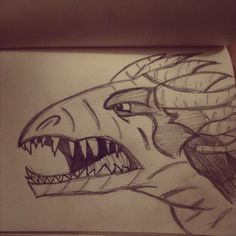 I like drawing dragons... :P This was literally a 5 min sketch...