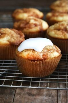 Gooey Cinnamon Roll Cupcakes. You've officially found the best gluten free cupcake recipe...EVER!
