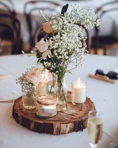 36 Ideas Of Budget Rustic Wedding Decorations is part of Outdoor wedding decorations - Tight budget only means that you could use budget rustic wedding decorations These ideas can definitely help you to have a so popular wedding of your dream Wedding Decorations On A Budget, Rustic Wedding Centerpieces, Wedding Table Centerpieces, Flower Centerpieces, Centerpiece Ideas, Ceremony Decorations, Diy Table Decorations, Round Table Decor Wedding, Vintage Centerpieces