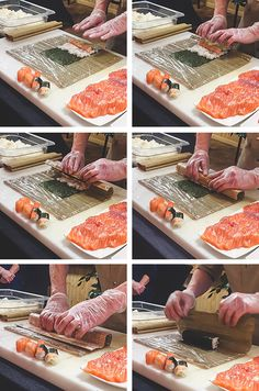 Hoe je sushi maakt? We doen het samen stap voor stap! Sushi Drawing, Sushi Night, Soup Appetizers, Homemade Sushi, Japanese Sushi, Appetisers, Vegan Foods, Meals For The Week, Food Dishes