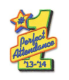AHG Activity Patches: Keep Record of your girls attendance at the end of the year award/crossover ceremony surprise them with a special Attendance Award Patch