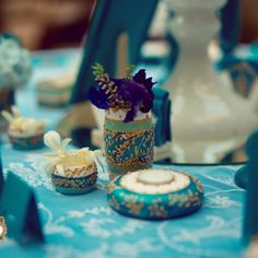 Precious Turquoise - an eclectic wedding collection, combining antique… Eclectic Wedding, Wedding Decorations, Table Decorations, Event Design, Wedding Designs, Hand Painted, Turquoise, Antiques, Handmade