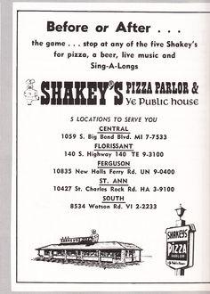 1968 Mo' Better Blues, St Louis County, Albuquerque News, Vintage Restaurant, Old Advertisements, St Louis Mo, Family Genealogy, Saint Charles, Best Memories