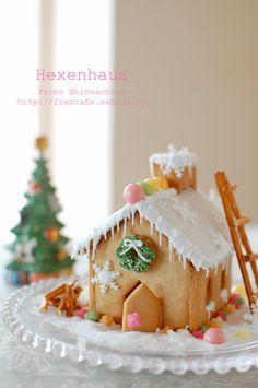 Cute Christmas Desserts, Christmas Goodies, Christmas Treats, Ginger Cookies, Sugar Cookies, Kawaii Cookies, Cookie House, Biscuits, Creative Food