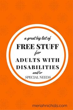 Free Stuff for Adults with Disabilities (and/or Special Needs) Disability Help, Disability Awareness, Fibromyalgia Disability, Activities For Adults, Autism Activities, Autism Resources, Work Activities, Creative Activities, Activity Ideas
