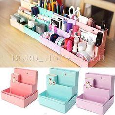 Cute Paper Storage Organizer Stationery Box DIY Makeup Cosmetic Box Desk Decor