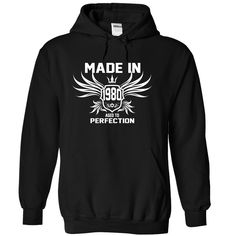 Made in 1980 - 35 years of being awesome T Shirts, Hoodies. Check price ==► https://www.sunfrog.com/Birth-Years/Made-in-1980--35-years-of-being-awesome-Black-7905892-Hoodie.html?41382 $39.99