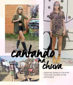 Festival fashion l Coachella, Splendour in the grass, Lollapalooza l Boho, rocker, military l Hunter Boots, Timberland Boots