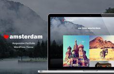 Amsterdam - Responsive Portfolio WP by Maelstrom on Creative Market