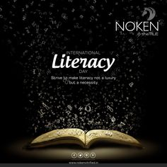 Strive to make literacy not a luxury but a necessity International Literacy Day. International Literacy Day, International Days, World Literacy Day, Canvas Painting Tutorials, Question Of The Day, Ads Creative, Republic Day, Indian Festivals, Science Art