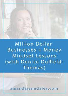 This post features some awesome money mindset lessons from the infamous Denise Duffield-Thomas!