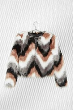 faux fur jacket chevrons winter jacket fall jacket
