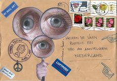 Mail Art Sample (collage art on postcards exchange since  1965)   ~  LA   PUERTA DE TANNHÄUSER PLASENCIA: 1ª CONVOCATORIA de MAIL ART en La Puerta de Tannhäuser