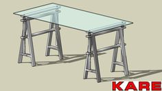 Large preview of 3D Model of KARE 76283 Table Pintor 160x80 cm (Tisch Pintor 160x80 cm).skp