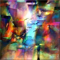 PASEO EN TECNICOLOR (Arte digital) por L-R ''PASEO EN TECNICOLOR''