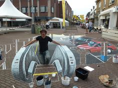3D exit underground shopping center, Raalte Festival [in the making]. 60m2.