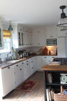 Custom Kitchen On A Budget   Subway Tile, IKEA Butcher Block Countertops,  Undermount Sink
