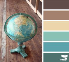 Global Tones - if I ever decide to change from French Blue, I can go turquoise.  In tandum with mushroom and dark cream, these are yummy.