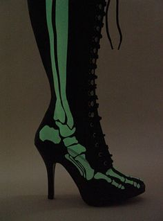 X-Ray Glow Bones Boots-repinning this simply because Meredith Dugan needs to see these:-)