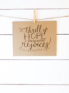 Christmas Art Print, A Thrill of Hope A Weary World Rejoices