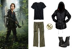 "Katniss Everdeen - Get the Look ""Arena"" Henseler Scott Katniss Everdeen Halloween Costume, Katniss Everdeen Hair, Hunger Games Outfits, Fandom Outfits, Jennifer Lawrence, Halloween Fashion, Halloween Costumes, Halloween Party, Diy Design"