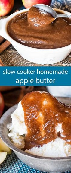 A simple recipe for Homemade Apple Butter that you can make in the slow cooker. Use as a spread, a syrup or in your fall recipes! via cooker fall recipe Homemade Apple Butter Recipe {Hints for an Easy Slow Cooker Recipe} Lunch Snacks, Homemade Apple Butter, Homemade Recipe, Crockpot Apple Butter, Recipe For Apple Butter, Butter Crock, Recipe Tips, Apple Butter Uses, Salsa Dulce