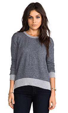 Wilt French Terry Shrunken Hi/Lo Sweatshirt in Blueberry Heather | REVOLVE