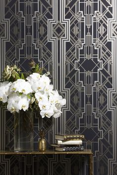 Wallpaper from Metropolis Collection by Catherine Martin for Great Gatsby