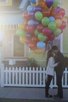 This is a really cute idea for an engagement or for buying a new home...makes me think of up...
