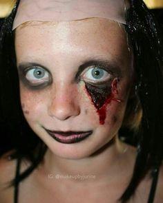 Open eye wound sfx makeup