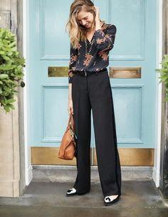 Boden Charlbury Wide Leg Trousers Black Size UK 16R rrp 98 DH172 DD 01   fashion 809ebe74d