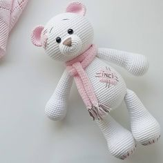 In this article we share amigurumi animal free crochet patterns. I wish you enjoyable knitting. Amigurumi toys are beautiful. Crochet Teddy, Crochet Bunny, Cute Crochet, Beautiful Crochet, Crochet Animals, Crochet Dolls, Crochet Bear Patterns, Amigurumi Patterns, Stuffed Animal Patterns