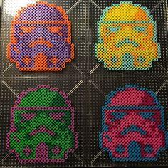 Stormtroopers coasters - Star Wars perler beads by caitlondiescrafts