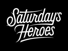 Simon Ålander  Logo created for the band Saturday's Heroes.