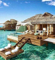 Over water bungalow in Jamaica