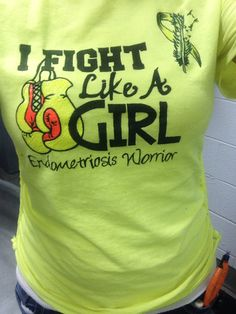 In March we wear yellow!! #endometriosis awareness #endo shirt # diy shirt