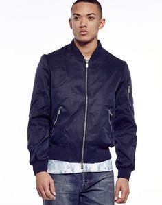 Eleven Paris Nylon Bomber Jacket Nylon Bomber Jacket, Leather Jacket, Eleven Paris, Line Shopping, Contemporary Style, Parisian, Denim, Men's Clothing, Jackets