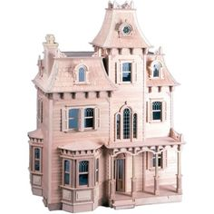 Have fun with your family while creating a treasured heirloom with this Glencroft dollhouse kit. Featuring authentic Tudor-style detailing, the two-story cottage looks like it came straight from the E