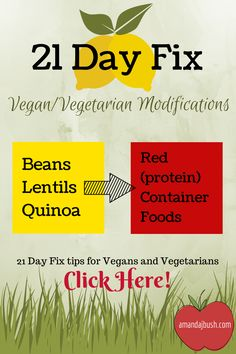 Eating vegan or vegetarian on the 21 Day Fix! #21dayfix #vegan #vegetarian