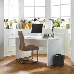 MY WAY in Weiß Matt: Schreibtisch: ca. 140 x 74 x 70 cm
