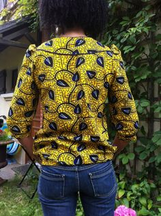 Ma blonde en Wax - Fans des créations Delphine et Morissette African Attire, African Wear, African Women, African Dress, African Inspired Fashion, African Print Fashion, Fashion Prints, Love Fashion, African Blouses
