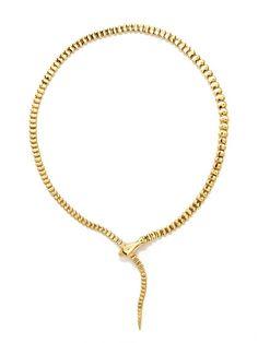 Tiffany & Co. Gold Snake Necklace