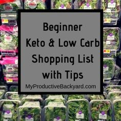 Beginner Keto Low Carb Shopping List with Tips - My Productive Backyard Low Carb Shopping List, Low Carb Food List, Carb List, Shopping Tips, Diet Plan Menu, Keto Diet Plan, Keto Fat, Low Carb Keto, Keto Broccoli Cheese Soup