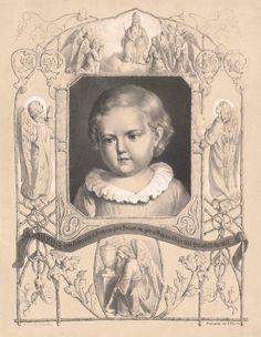 Bild, das die Trauer um die erstgeborene Tochter Kaisers Franz Josephs und Kaiserin Elisabeths ausdrücken soll. Die kleine Sophie starb im Alter von zwei Jahren auf einer Ungarnreise an der Ruhr