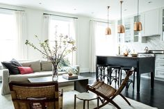 Greenwich Village Brownstone by Katie Martinez. That kitchen island and those stools would be the first thing I would take to my place, but I like an overall look of this place