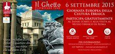 6 settembre, Giornata della Cultura Ebraica.  Safari d'arte   http://lnx.museoebraico.roma.it/w/?p=4557