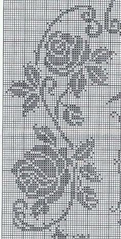 37 trendy ideas for crochet doilies filet cross stitch Filet Crochet Charts, Crochet Doily Patterns, Crochet Borders, Crochet Diagram, Knitting Charts, Thread Crochet, Crochet Doilies, Crochet Stitches, Cross Stitch Borders