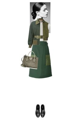 """""""Explorer #5403"""" by canlui ❤ liked on Polyvore featuring Sacai, Sacai Luck, Jimmy Choo, Miu Miu, GREEN, military, Gogreen, MilitaryStyle and militarychic"""