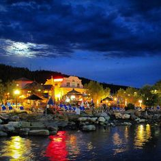Soaking in the moonlight in downtown Pagosa Springs, Colorado.